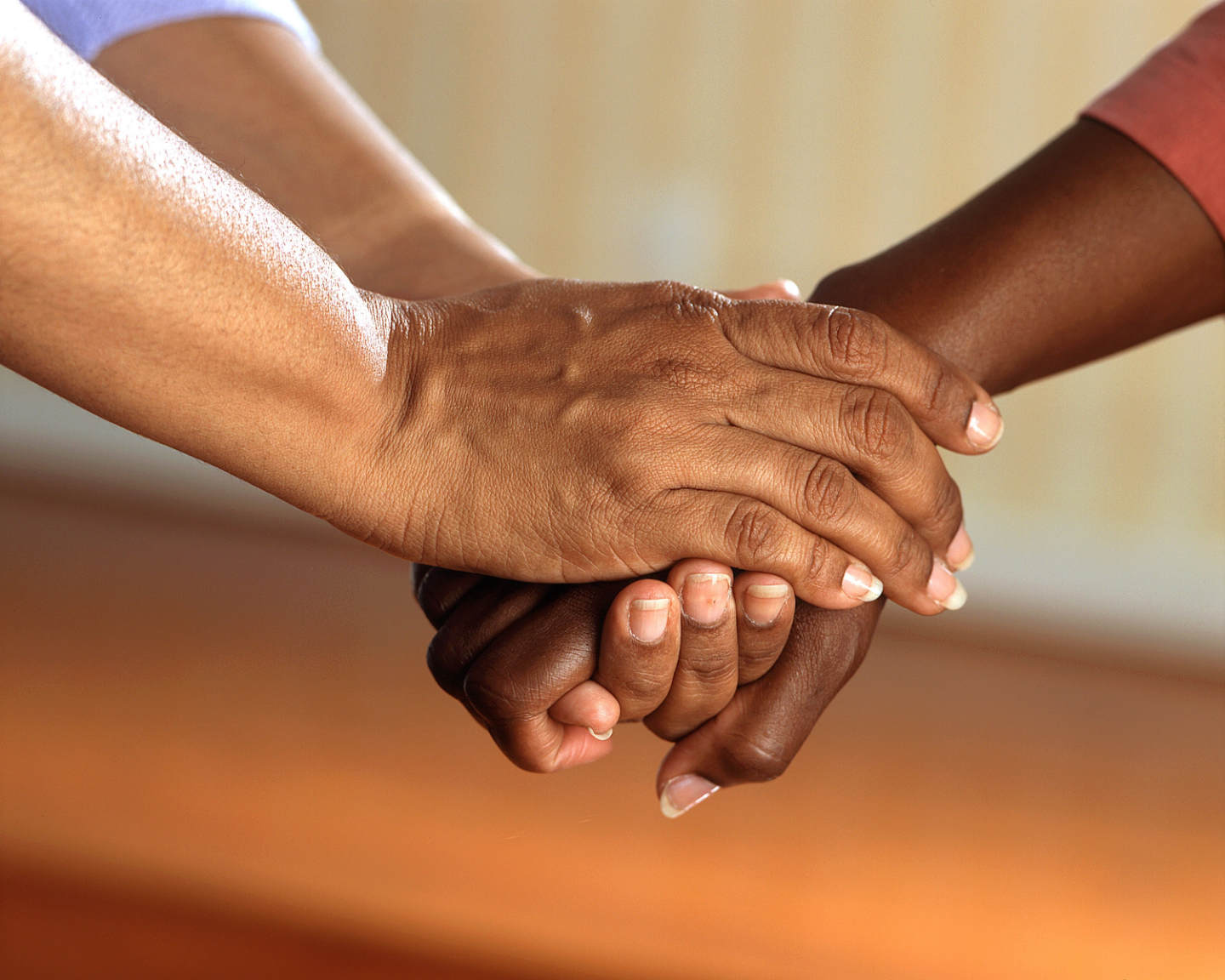 Care giver reassures patient